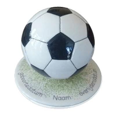 Black Large Soccerball Urn
