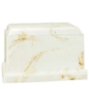 Cherish Ecru Marble Cremation Urn