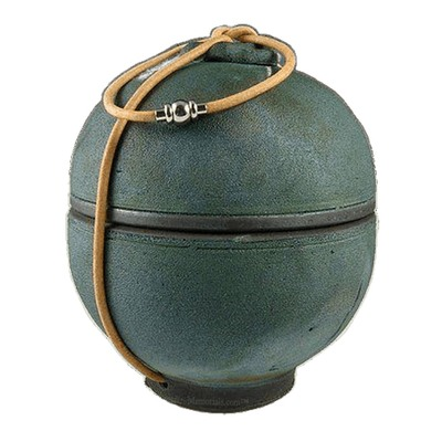 Emerald Shell Raku Keepsake Urn