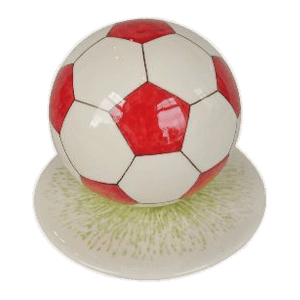 Red Medium Soccerball Urn