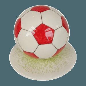 Red Logo Medium Soccerball Urn