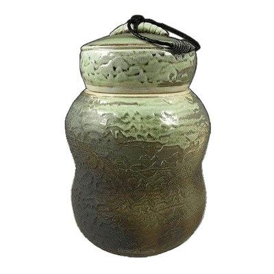 Sage Temple Soda Fired Urn