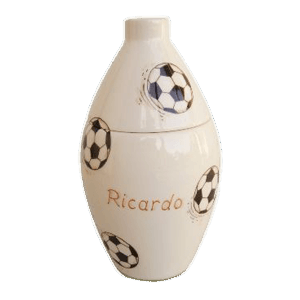 Soccer Dribbles Keepsake Cremation Urn