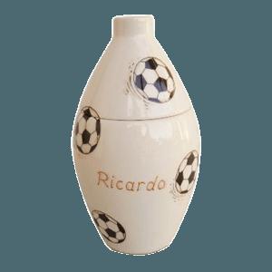 Soccer Dribbles Large Cremation Urn