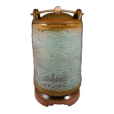 Spring Meadow Soda Fired Urn