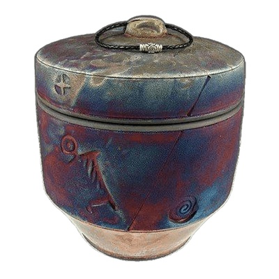 Sunset Tribe Raku Urn