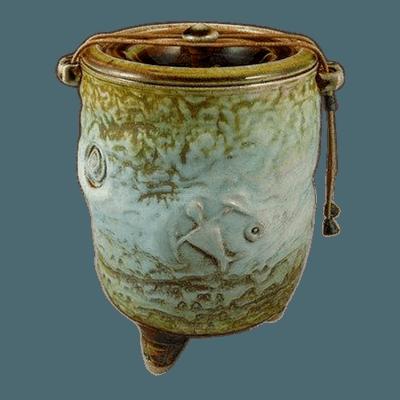 Tahiti Gem Soda Fired Urn