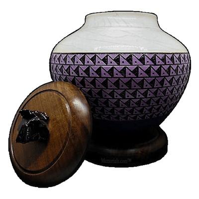 Purple Tribal Cremation Urn