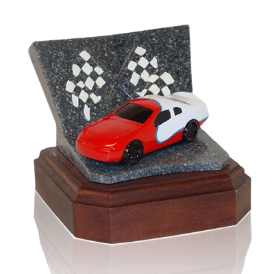 Red Race Car Keepsake Cremation Urn