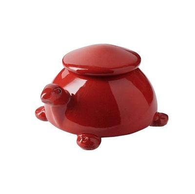 Red Turtle Ceramic Keepsake Urn