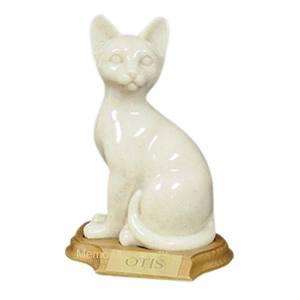 Feline Sitting Cat Cremation Urn