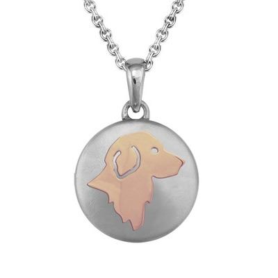 Golden Retriever Rose Cremation Pendant