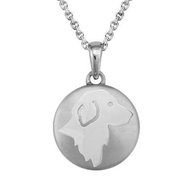 Golden Retriever Silver Cremation Pendant