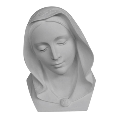 Mother Mary Bust Marble Statue