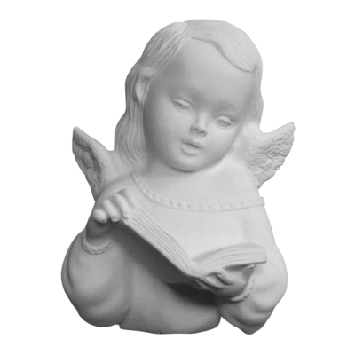 Reading Angel Marble Statue