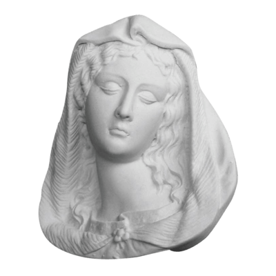Madonna Relief Marble Statue