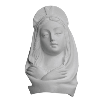 Madonna Crown Marble Statue