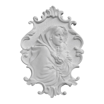 Our Lady Of Ferruzzi Relief Marble Statue