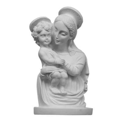 Madonna And Child Marble Statue