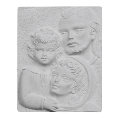 Holy Family Scene Marble Statue