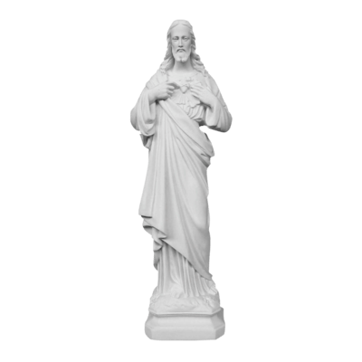 Sacred Heart Of Christ Marble Statue
