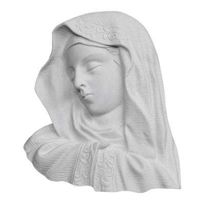 Hooded Madonna Marble Statue
