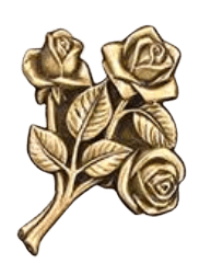 Rose Cluster Medallion Appliques