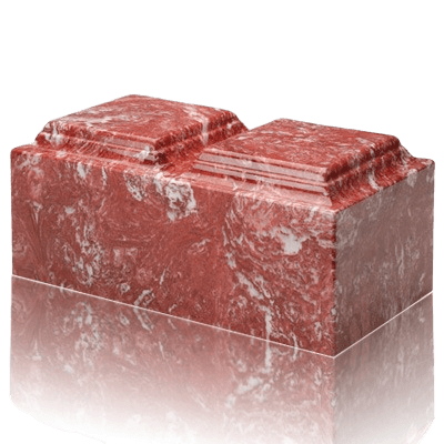 Rose Marble Companion Cremation Urn