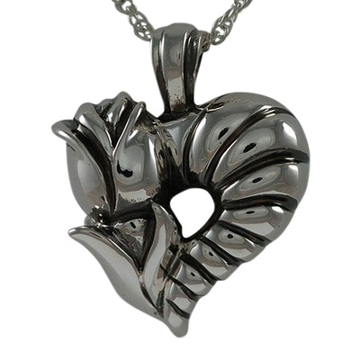 Rose Heart Keepsake Pendant