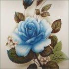 Blue Rose Small Ceramic Urn