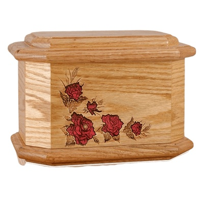 Octagon Rose Cherry Cremation Urn