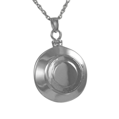 Round Locket Cremation Pendant