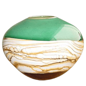 Sphere Sage Cremation Urn For Two