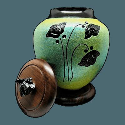 Sage Poppy Cremation Urn