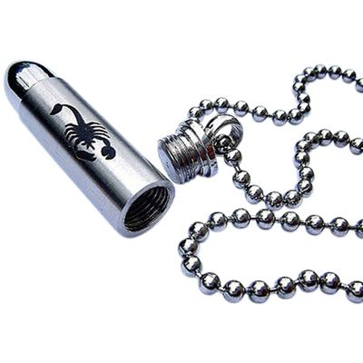 Scorpion Bullet Urn Necklace