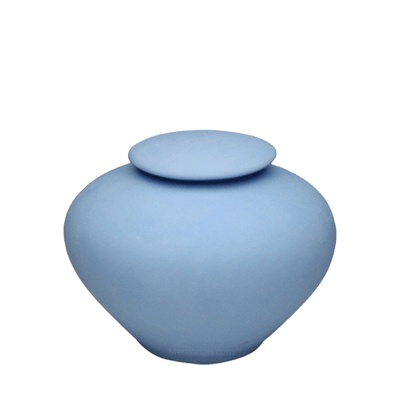 Blue Sea Medium Porcelain Clay Urn