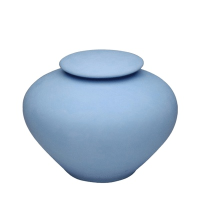 Blue Sea Porcelain Clay Urn