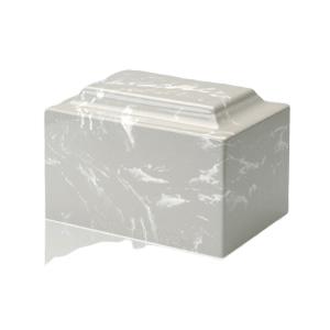 Silver Gray Marble Medium Urn