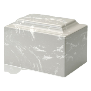 Silver Gray Marble Cremation Urns
