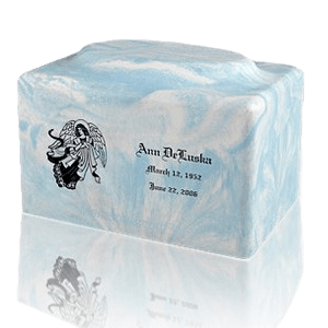 Blue Skies Marble Cremation Urn
