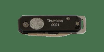 Black Fingerprint Knife Keychain