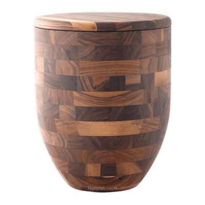 Solid Walnut Cremation Urn