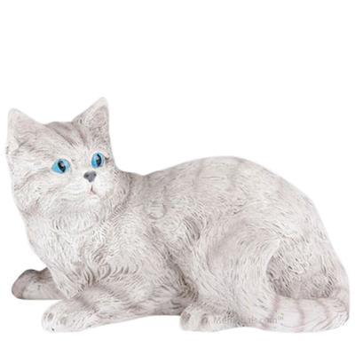 Striped Gray Cat Cremation Urn