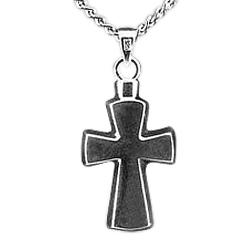 Stylized Cross Keepsake Pendant