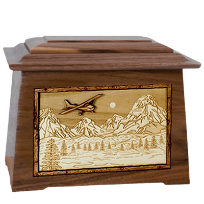 Aviation Walnut Aristocrat Cremation Urn