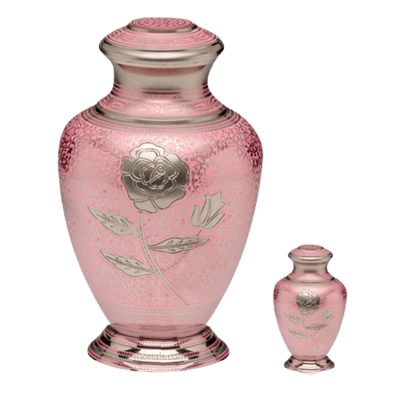 Red Rose Cremation Urns