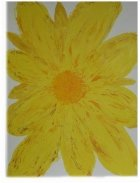 Sun Flower of Life Cremation Ash Painting