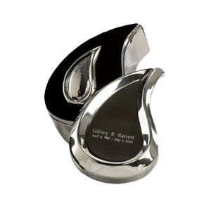 Teardrop Silver Box Cremation Urn