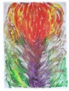 Explosion in Life Cremation Ash Painting
