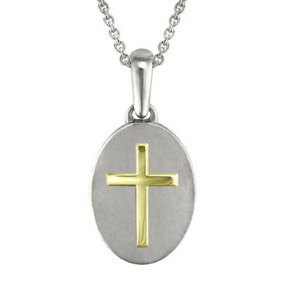 Traditional Gold Cross Cremation Pendant
